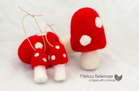 Mushroom Ornaments