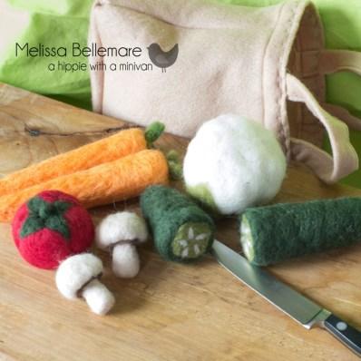 Needle Felted Vegetables
