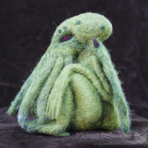 Needle Felted Cthulhu Sculpture