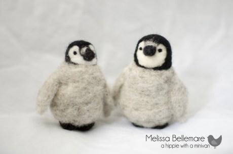 Needle Felted penguins