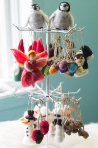 Needle Felted Ornaments for Craft fair