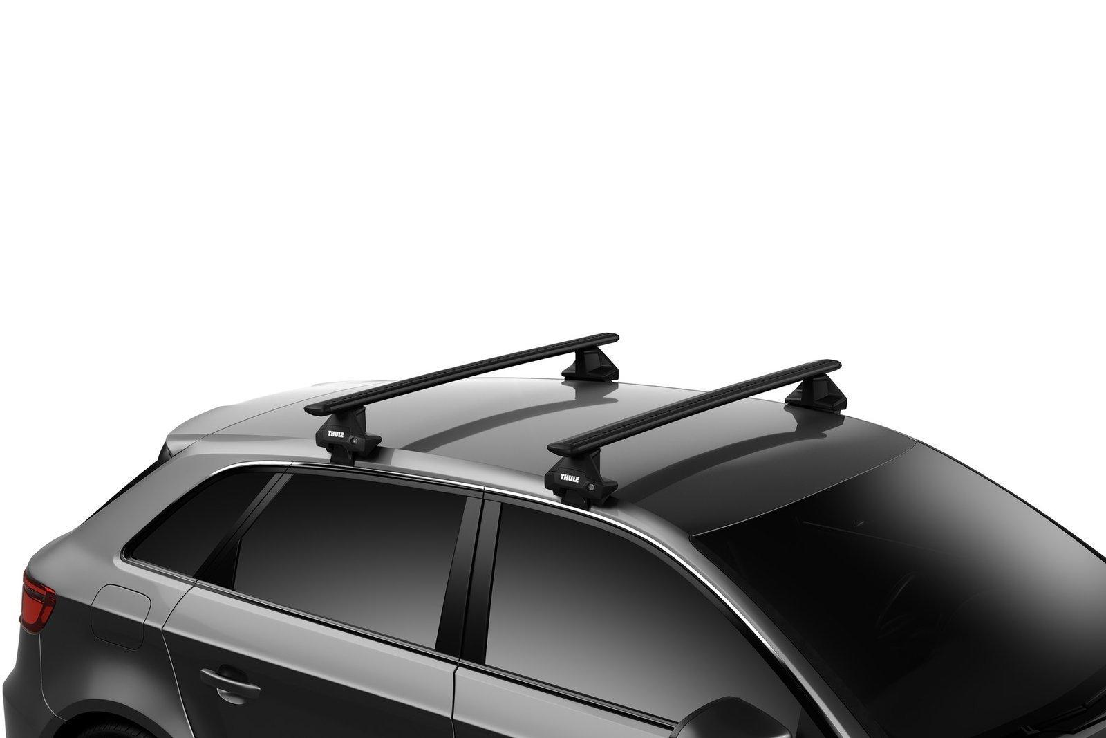 roof rack thule wingbar evo black audi a4 b8 4 dr sedan 2008 2015