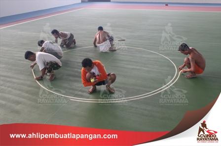pembuatan line basket court garis lapangan, pengecatan lapangan, ahli pembuat lapangan, kontraktor lapangan