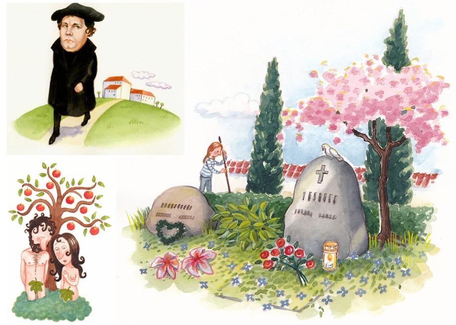 Illustrationer til Folkekirkens Skoletjeneste