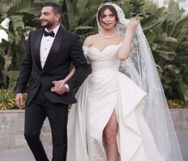 أول تعليق من هاجر أحمد بعد حفل زفافها: اكتفيت بـ زوجي يا الله رزق لي