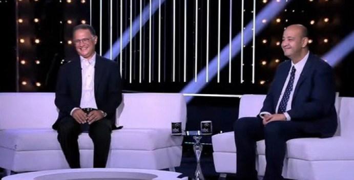 عمرو أديب مع شريف عامر في احتفالية الذكرى الثلاثين لـ MBC