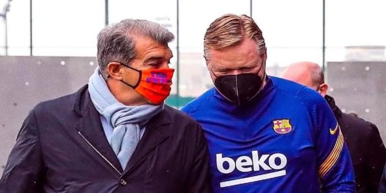 خوان لابورتا يعلن استمرار رونالد كومان في برشلونة قبل مواجهة أتلتيكو مدريد