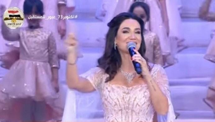 ديانا حداد: فخورة بالغناء أمام الرئيس السيسى في إحتفالات أكتوبر