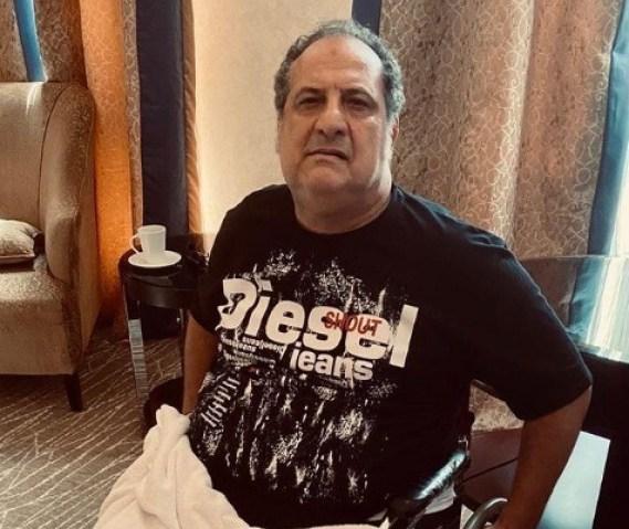 تطورات حالة خالد الصاوي الصحية بعد تعرضه للإصابة أثناء تصوير أحد مشاهد الأكشن تسببت في جلوسه على كرسي متحرك