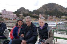 Lago Titicaca con Lilliana y John