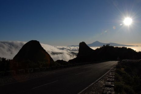 Nubes entre La Gomera y Tenerife