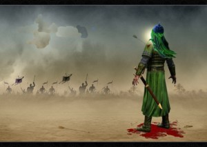 imam-hussain-in-battle-of-karbala