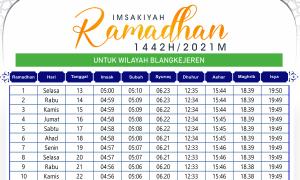 Jadwal Imsakiyah Ramadhan Blang Kejeren 2021