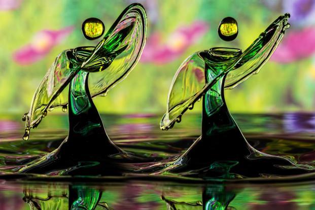 Looks like 2 dancing angels. (Photo by Ronny Tertnes/TwoByTwoEditorial.co.uk)