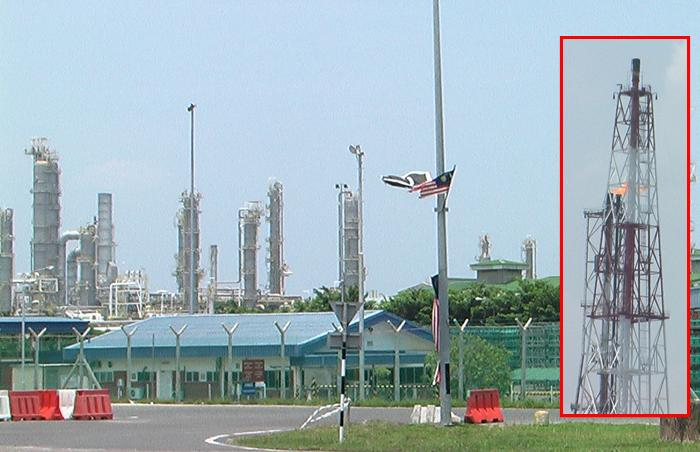 Fire burning at Petronas Complex