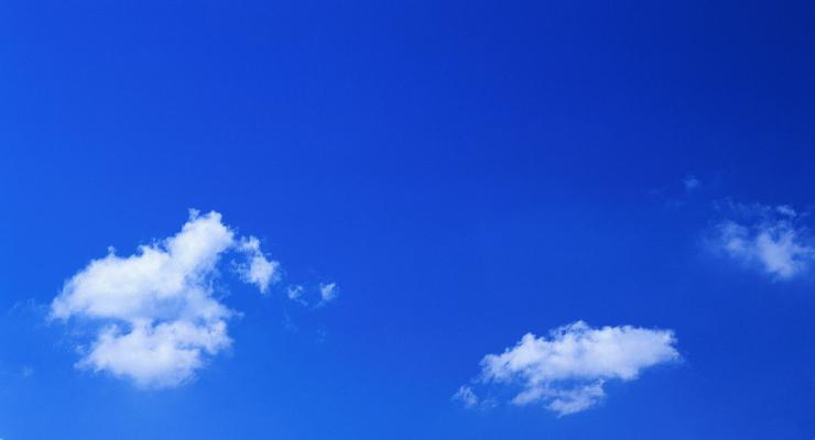 Warna Biru pada langit sore