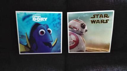 """""""Finding Dory"""" und """"Star Wars- The Force Awakens"""" in der Big Sleeve-Edition von Disney."""