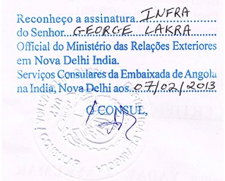 Agreement Attestation for Angola in Gujarat, Agreement Legalization for Angola , Birth Certificate Attestation for Angola in Gujarat, Birth Certificate legalization for Angola in Gujarat, Board of Resolution Attestation for Angola in Gujarat, certificate Attestation agent for Angola in Gujarat, Certificate of Origin Attestation for Angola in Gujarat, Certificate of Origin Legalization for Angola in Gujarat, Commercial Document Attestation for Angola in Gujarat, Commercial Document Legalization for Angola in Gujarat, Degree certificate Attestation for Angola in Gujarat, Degree Certificate legalization for Angola in Gujarat, Birth certificate Attestation for Angola , Diploma Certificate Attestation for Angola in Gujarat, Engineering Certificate Attestation for Angola , Experience Certificate Attestation for Angola in Gujarat, Export documents Attestation for Angola in Gujarat, Export documents Legalization for Angola in Gujarat, Free Sale Certificate Attestation for Angola in Gujarat, GMP Certificate Attestation for Angola in Gujarat, HSC Certificate Attestation for Angola in Gujarat, Invoice Attestation for Angola in Gujarat, Invoice Legalization for Angola in Gujarat, marriage certificate Attestation for Angola , Marriage Certificate Attestation for Angola in Gujarat, Gujarat issued Marriage Certificate legalization for Angola , Medical Certificate Attestation for Angola , NOC Affidavit Attestation for Angola in Gujarat, Packing List Attestation for Angola in Gujarat, Packing List Legalization for Angola in Gujarat, PCC Attestation for Angola in Gujarat, POA Attestation for Angola in Gujarat, Police Clearance Certificate Attestation for Angola in Gujarat, Power of Attorney Attestation for Angola in Gujarat, Registration Certificate Attestation for Angola in Gujarat, SSC certificate Attestation for Angola in Gujarat, Transfer Certificate Attestation for Angola