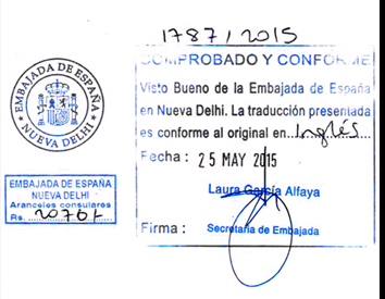 Agreement Attestation for Spain in Palanpur, Agreement Legalization for Spain , Birth Certificate Attestation for Spain in Palanpur, Birth Certificate legalization for Spain in Palanpur, Board of Resolution Attestation for Spain in Palanpur, certificate Attestation agent for Spain in Palanpur, Certificate of Origin Attestation for Spain in Palanpur, Certificate of Origin Legalization for Spain in Palanpur, Commercial Document Attestation for Spain in Palanpur, Commercial Document Legalization for Spain in Palanpur, Degree certificate Attestation for Spain in Palanpur, Degree Certificate legalization for Spain in Palanpur, Birth certificate Attestation for Spain , Diploma Certificate Attestation for Spain in Palanpur, Engineering Certificate Attestation for Spain , Experience Certificate Attestation for Spain in Palanpur, Export documents Attestation for Spain in Palanpur, Export documents Legalization for Spain in Palanpur, Free Sale Certificate Attestation for Spain in Palanpur, GMP Certificate Attestation for Spain in Palanpur, HSC Certificate Attestation for Spain in Palanpur, Invoice Attestation for Spain in Palanpur, Invoice Legalization for Spain in Palanpur, marriage certificate Attestation for Spain , Marriage Certificate Attestation for Spain in Palanpur, Palanpur issued Marriage Certificate legalization for Spain , Medical Certificate Attestation for Spain , NOC Affidavit Attestation for Spain in Palanpur, Packing List Attestation for Spain in Palanpur, Packing List Legalization for Spain in Palanpur, PCC Attestation for Spain in Palanpur, POA Attestation for Spain in Palanpur, Police Clearance Certificate Attestation for Spain in Palanpur, Power of Attorney Attestation for Spain in Palanpur, Registration Certificate Attestation for Spain in Palanpur, SSC certificate Attestation for Spain in Palanpur, Transfer Certificate Attestation for Spain