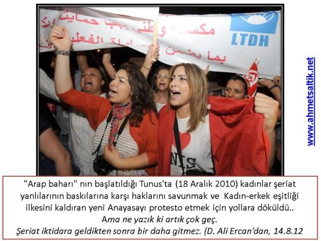 Tunus'ta sözde Arap baharı.. 1,5 yıl sonra kadınlar ayakta, dünkü haklarını arıyor..