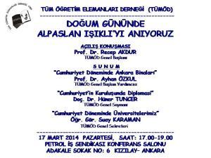 ANMA ETKİNLİĞİ (17.03.2014)