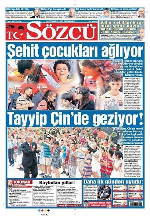 Tayyip_Cin'de_geziyor_sehit_cocuklari_agliyor_SOZCU_31.7.15
