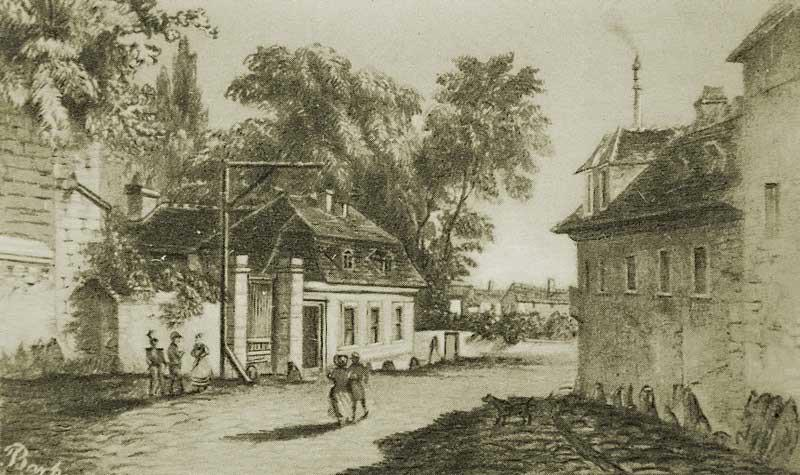 Illustration des Galgenbergs nahe Bromberg