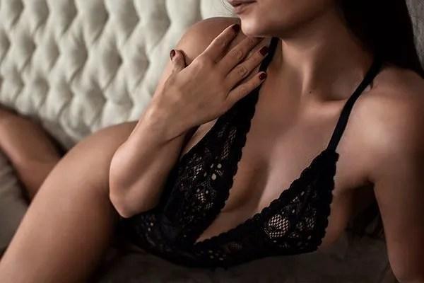 Close Up Boudoir Photography Modern Chic Black Lingerie Lafayette, LA Ahnvee Photography Louisiana Photographer