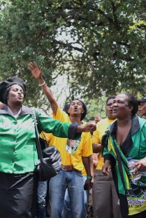 "ANC supporters sang ""Oh My president Mandela"""