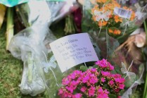 Messages on flowers for Tata