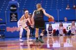 Guard Jessica Washington, a junior from Tulsa, Okla., plays defense during the first half of the women's basketball game on Nov. 27. Kansas beat North Dakota 76-71 in overtime. Ashley Hocking/KANSAN