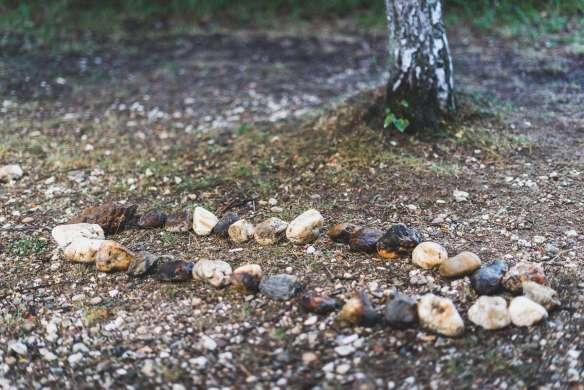 Steinkunst am Strand