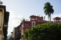 Panama City - Altstadt - Casco Viejo - rotes Haus