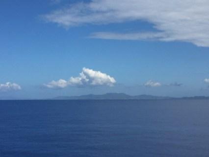 Insel Tortola in Sicht