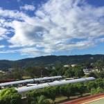 Blauer Himmel in Montego Bay