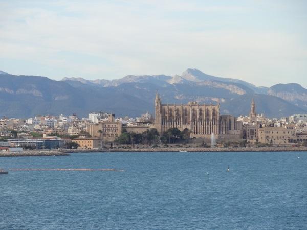Palma de Mallorca - Blick auf die Kathedrale La Seu