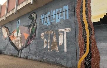 Verloren in der Stadt - neben Xabiers bunter Taube