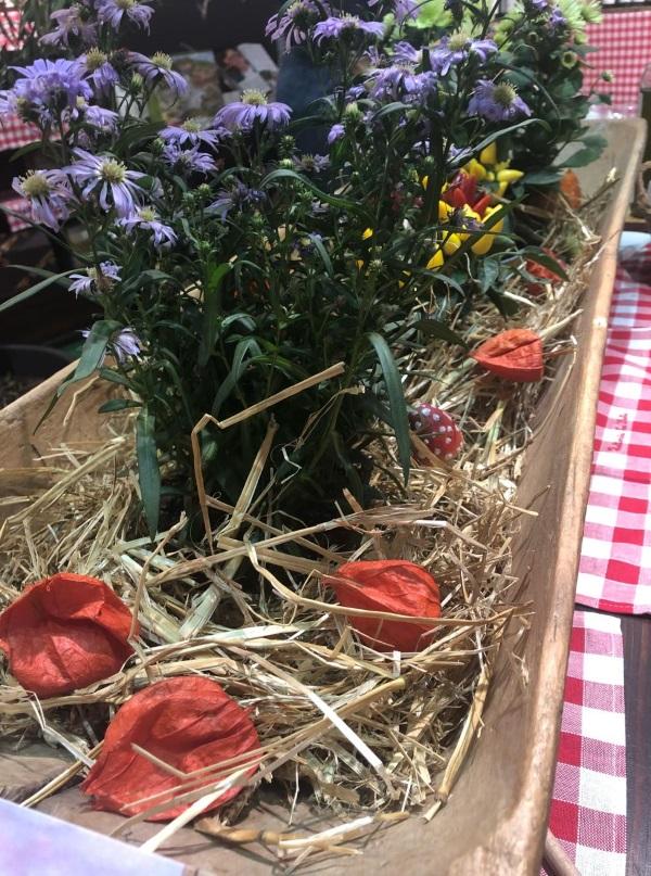 Blumen mitgebracht - Buchmesse Stand Frattoria La Vialla