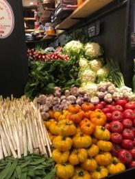 Markt Ausflug - am Obst- und Gemüsestand - Zuckerschoten, Spargel, Tomaten und co.