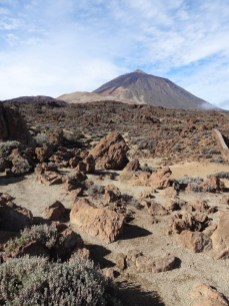 Mondlandschaft auf dem Berg Teide
