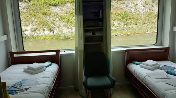 rollstuhlgerechte Kabine mit Flussblick