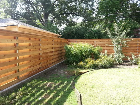 horizontal fence design