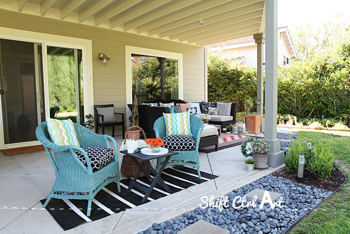 Outdoor lounge area and patio reveal on Backyard Lounge Area Ideas id=58283