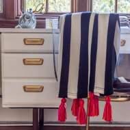 DIY Ikea Tassel Blanket