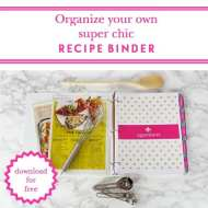 Get organized!  FREE customizable recipe binder printables!