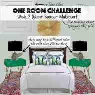 One Room Challenge: Week 2 {A Guest Bedroom Makeover}