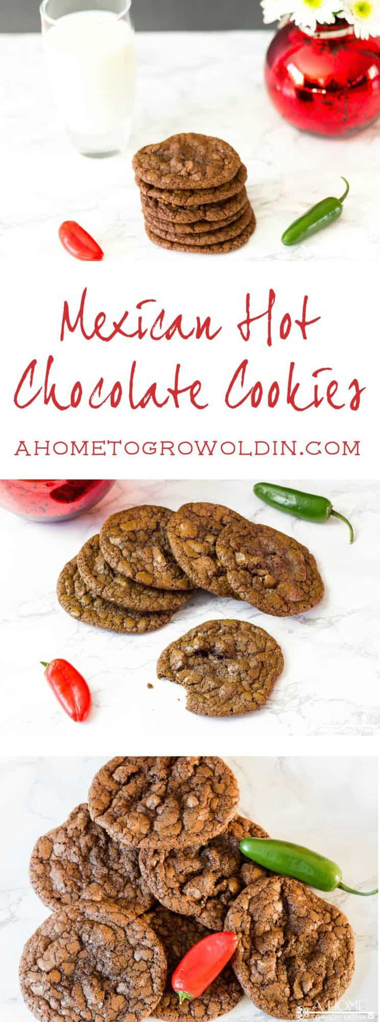 "This spicy Mexican hot chocolate cookie recipe is amazing! If you love chocolate and cinnamon, this will be your ""go to"" cookie recipe. It tastes just like a Starbucks Chile Mocha!"