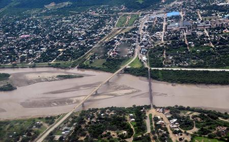 Toma aérea de la ciudad de Villa Montes