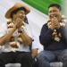 El ex presidente Evo Morales junto al ejecutivo José Quecaña en un acto en Yacuiba. Foto archivo.