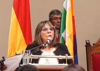 María Cristina Díaz, presidenta del TSJ, en una fotografía publicada en la página de Facebook de la Agencial Judicial de Noticias
